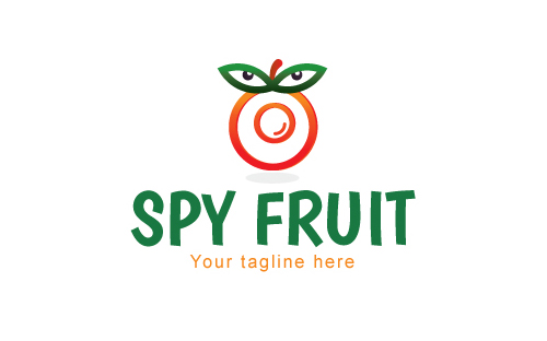 Spy Fruit - Hidden Camera Gadget Logo Template