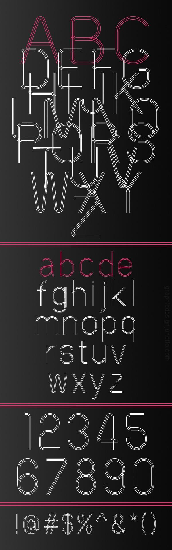 60s Stripe Font Letters