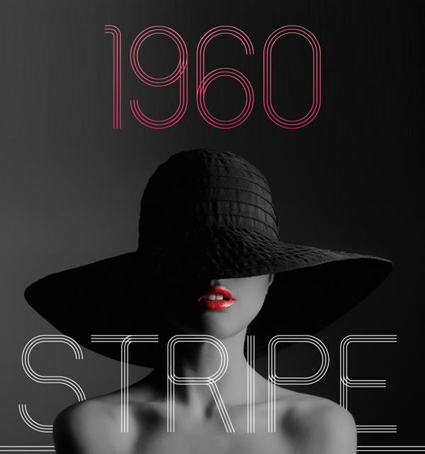 60s Stripe Free Font