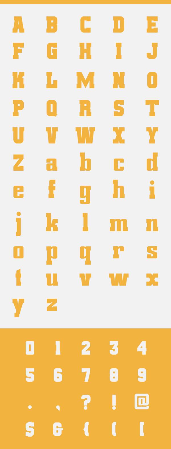 Amrak Font Letters