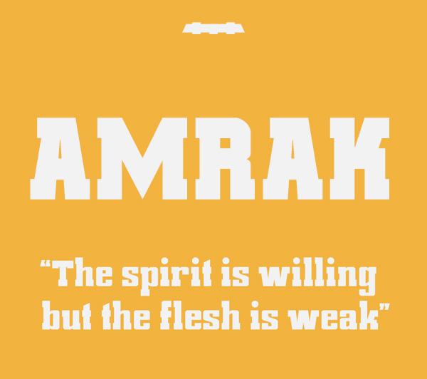 Amrak Free Font