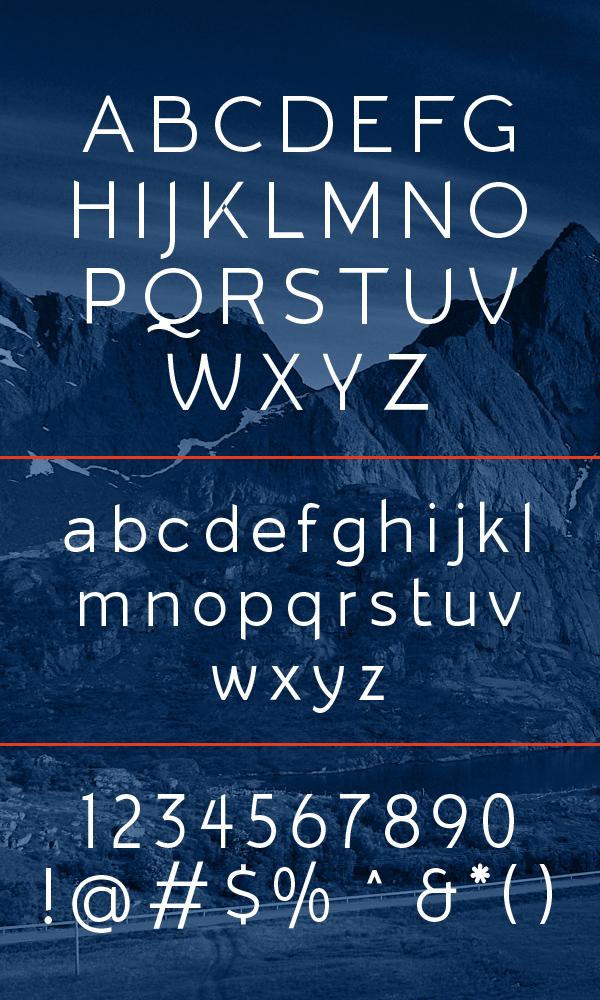 Arqus Light Font Letters