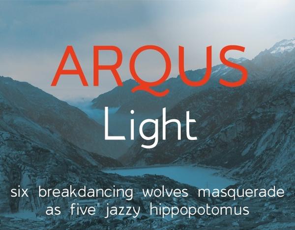 Arqus Light Free Font