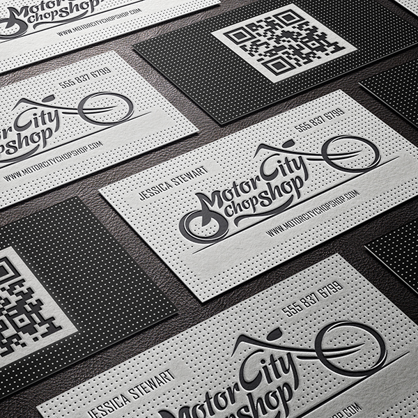Business Card Letterpressed Embossed