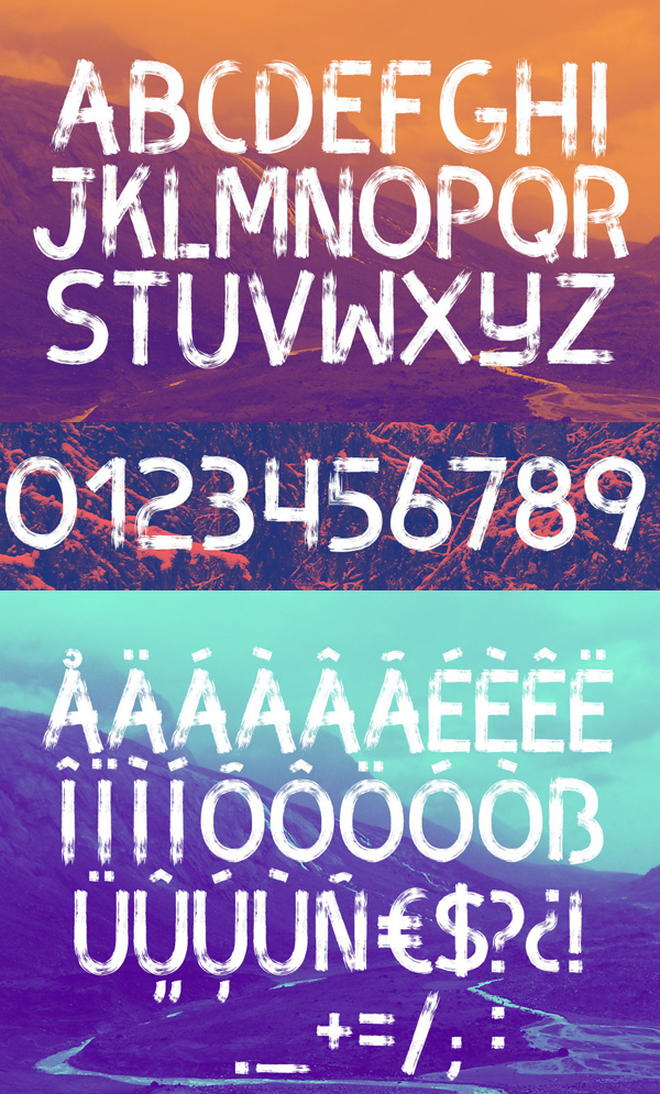 BRUX Font Letters