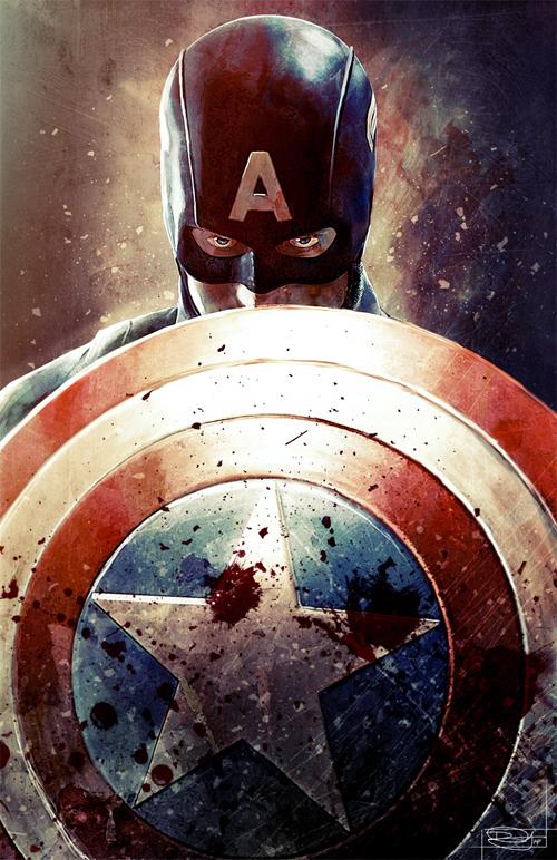 Captain America Illustration by Daniel Murray
