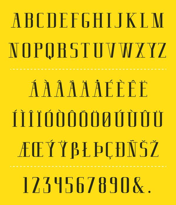 Cherrie Serif Font Letters
