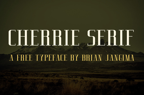 Cherrie Serif Free Font
