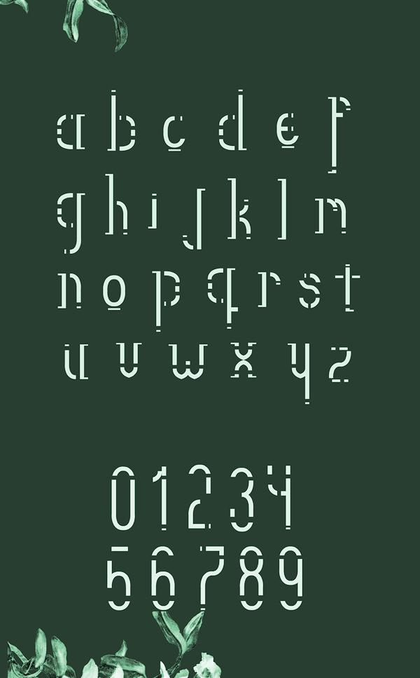 Crono Font Letters