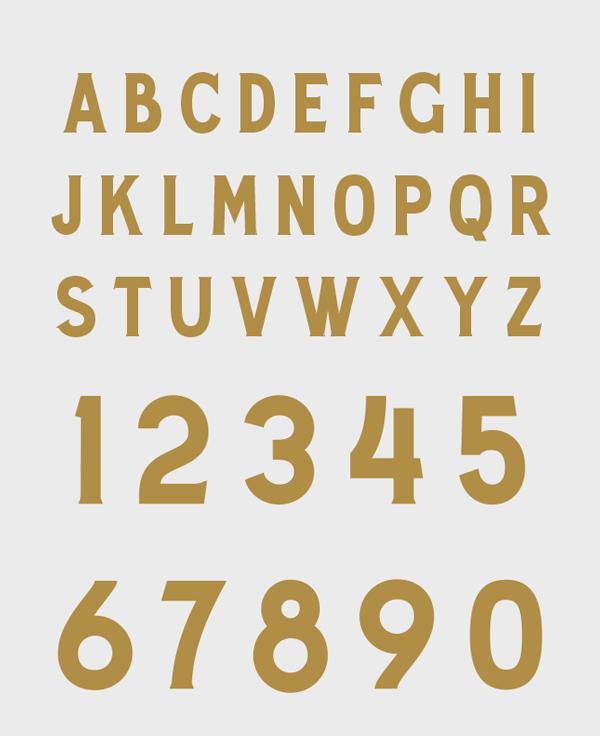 Decanter Font Letters
