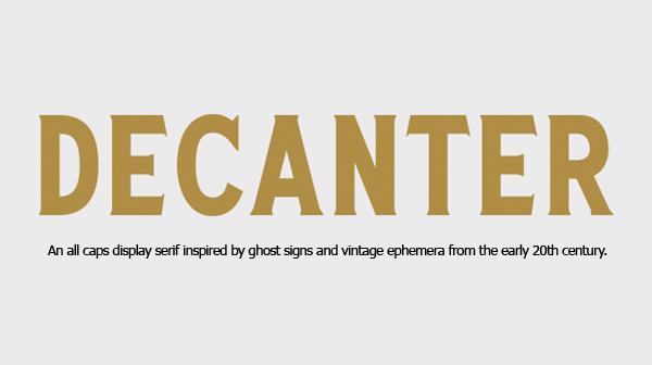 Decanter Free Font