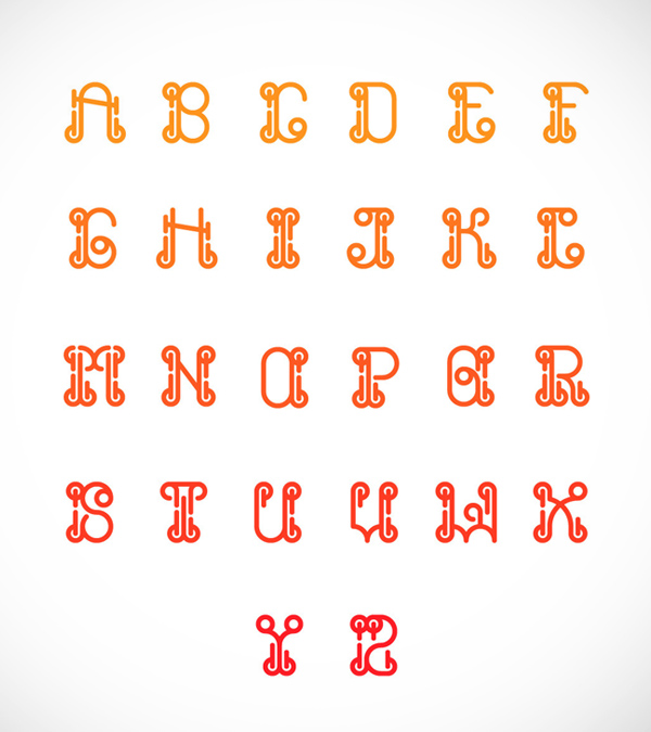KURT Font Letters