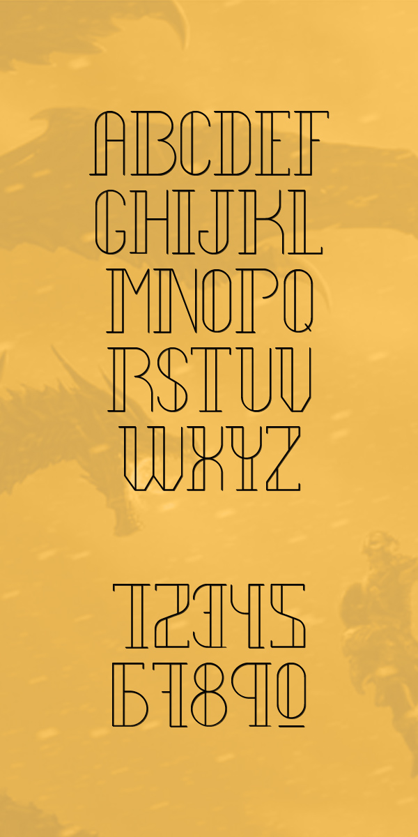 Legendary Ultra Light Font Letters
