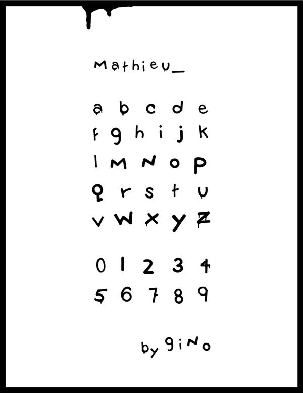 Mathieu Font Letters