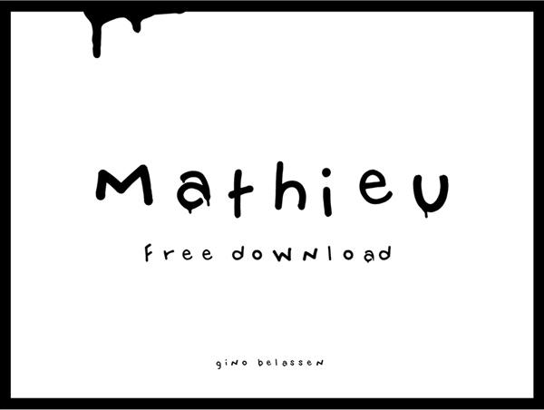 Mathieu Free Font