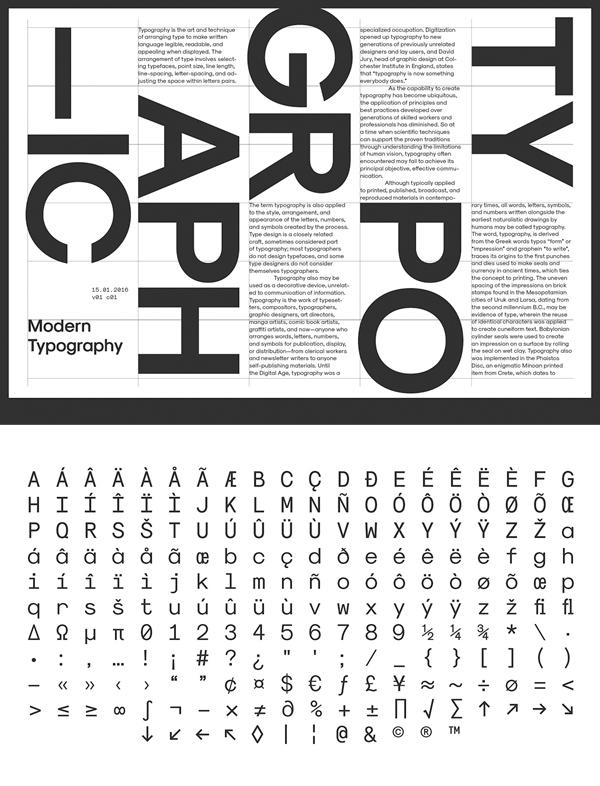 Modernist Font Letters