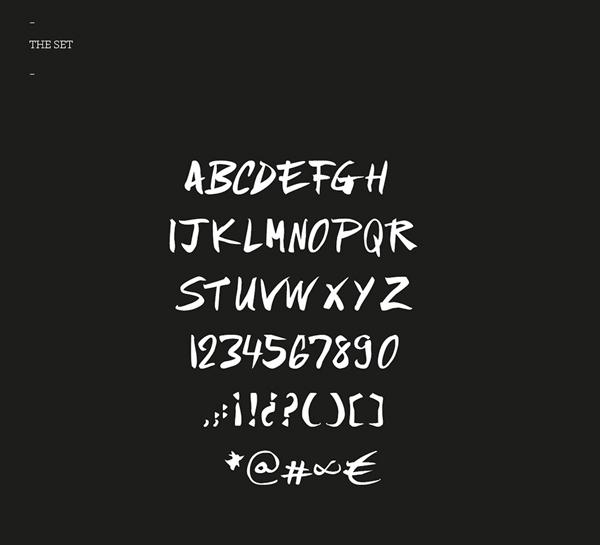 NO TIME Font Letters