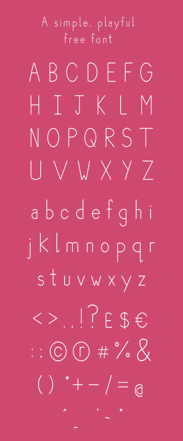 Plum Font Letters