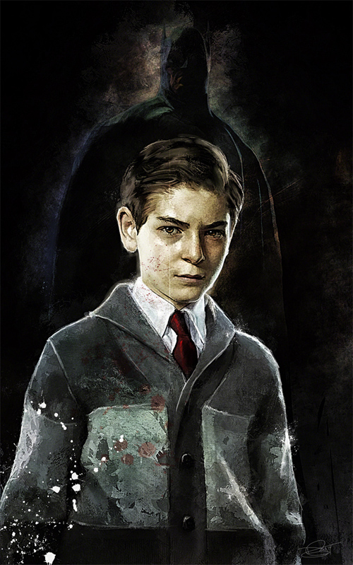 The hope of Gotham Illustration by Daniel Murray