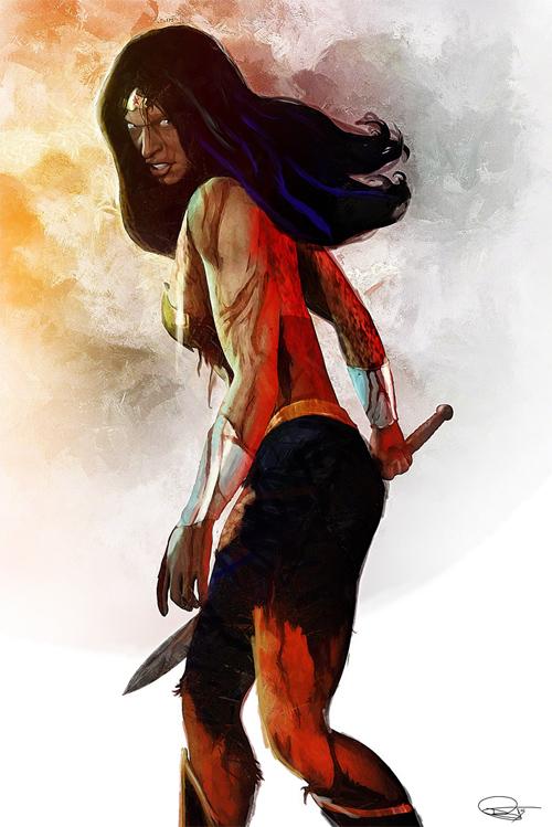 Wonder Woman (Angry Mood) Illustration by Daniel Murray