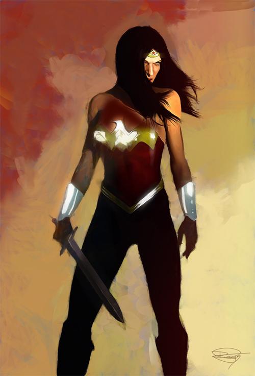Wonder Woman Illustration by Daniel Murray