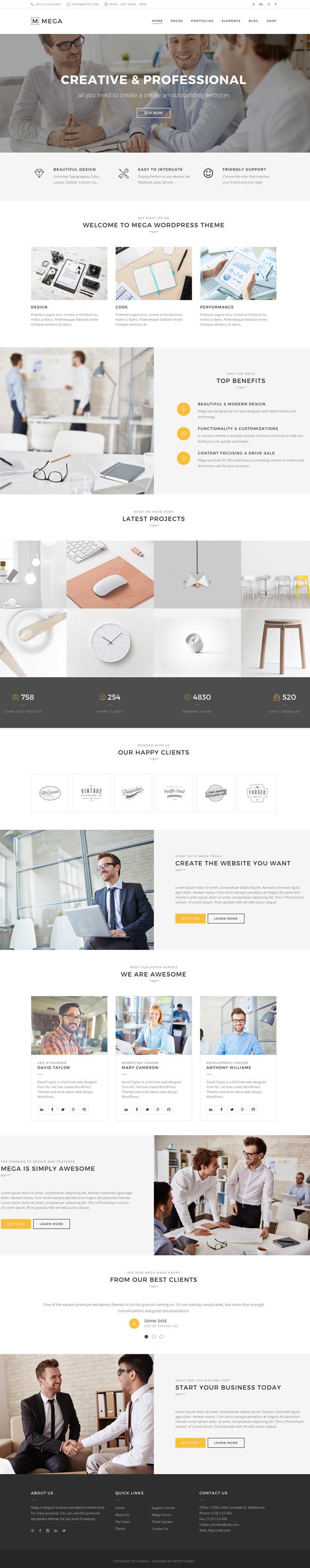 Mega - Creative Multi-Purpose WordPress Theme