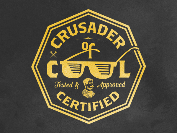 Crusader of Cool Podcast Logo by Johnny Gwin