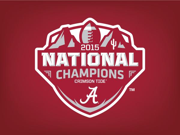Alabama 2015 National Champions Logo Concept