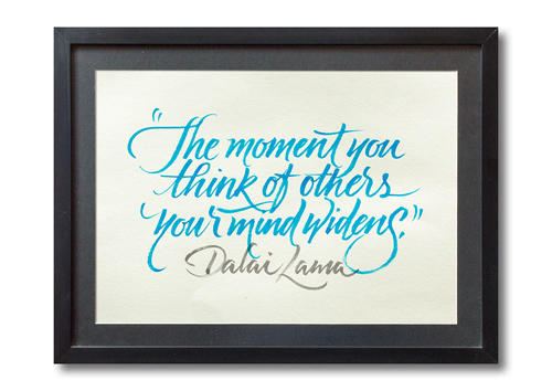 The moment you think of others handwriting lettering