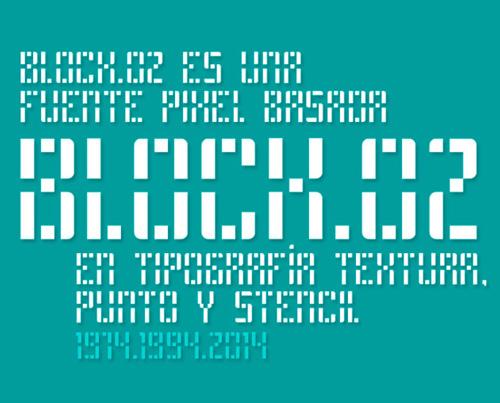 Block.02Stencil Font - Free Download