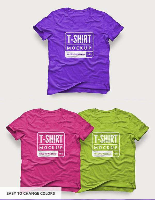 Free T-Shirt Design Mockup