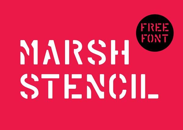 Marsh Stencil Font - Free Download