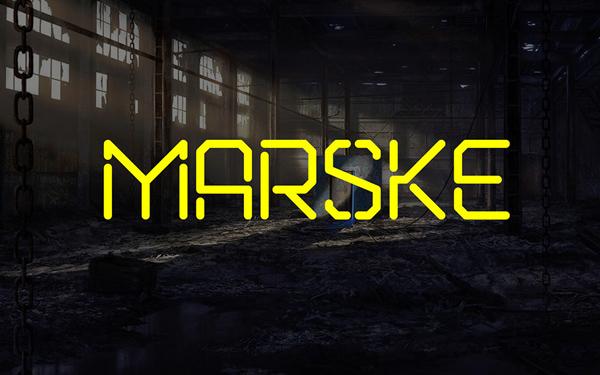 Marske Stencil Font - Free Download