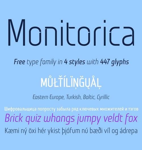 Monitorica Stencil Font - Free Download