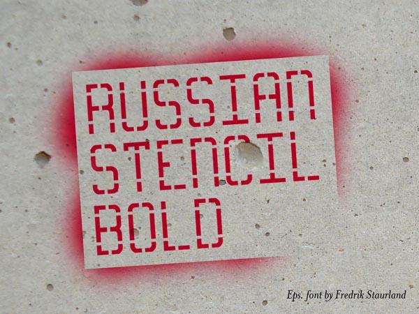 Russian Stencil Font - Free Download