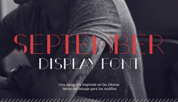 September Stencil Font - Free Download