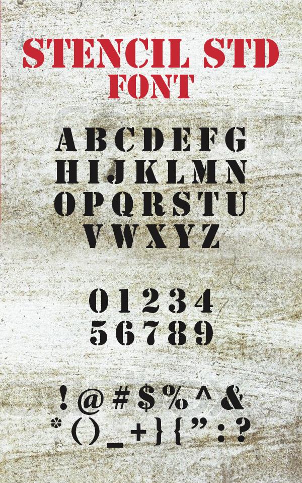 Stencil Std Font - Free Download