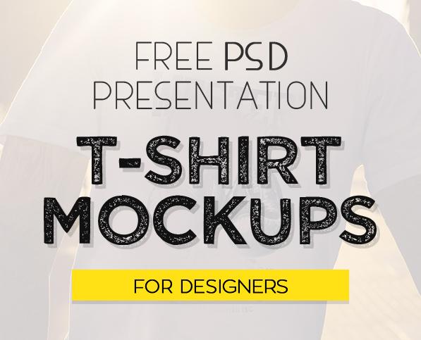 Free 40 Best T-Shirt Mockup PSD Templates