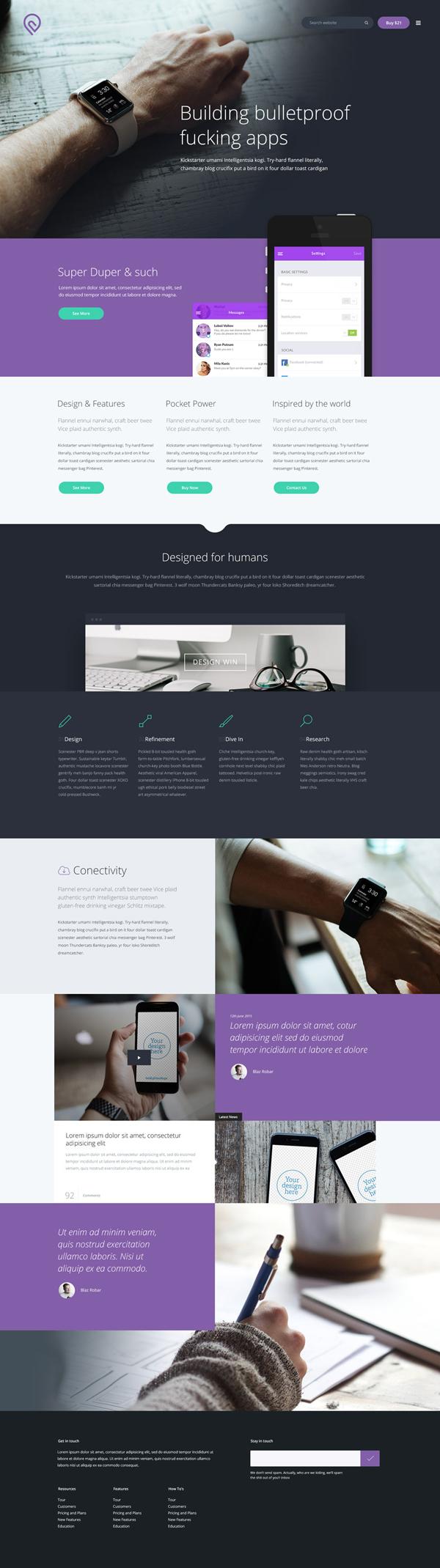 Modern Free PSD Website Template