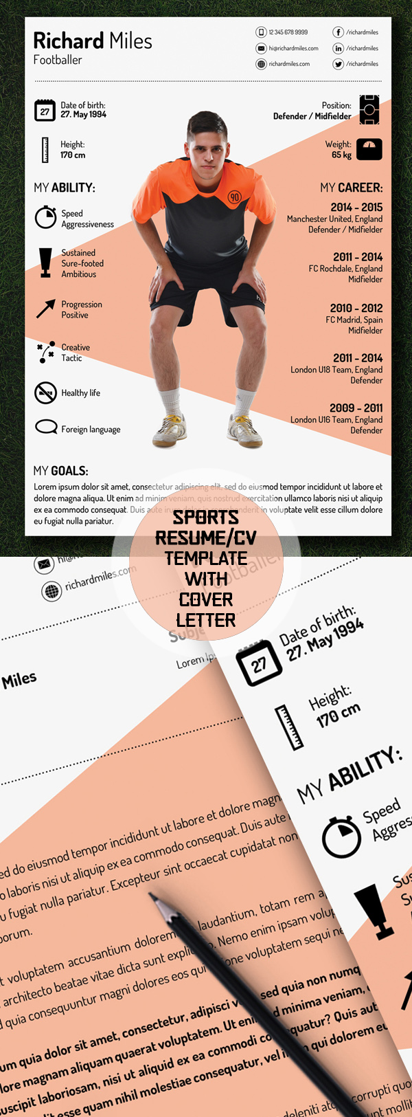 Free Sport Resume/CV Template