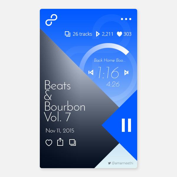 Music App UI PSD Template