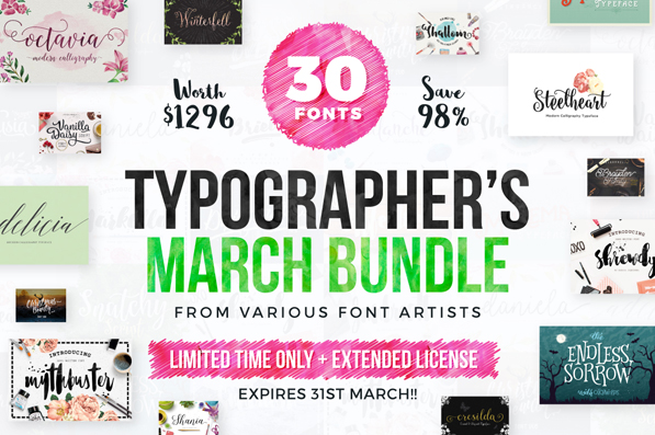 Typographer's March Dream Bundle – Only $29