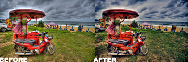 Before and After Photoshop Photo Editing