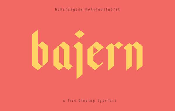 BajernFree Hipster Fonts