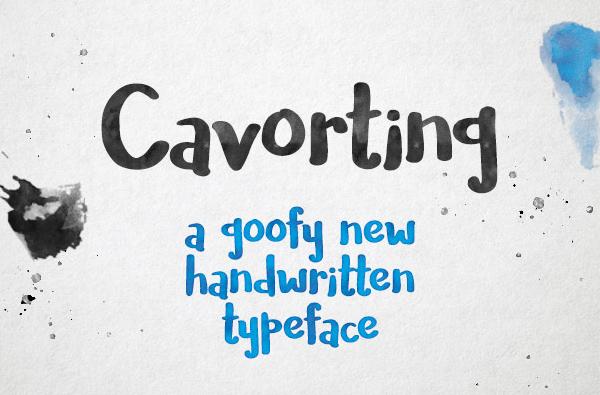 Cavorting Free Font