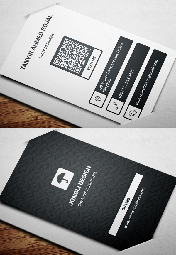 App Style Business Card Template