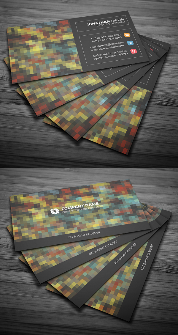 Mosaic Style Business Card
