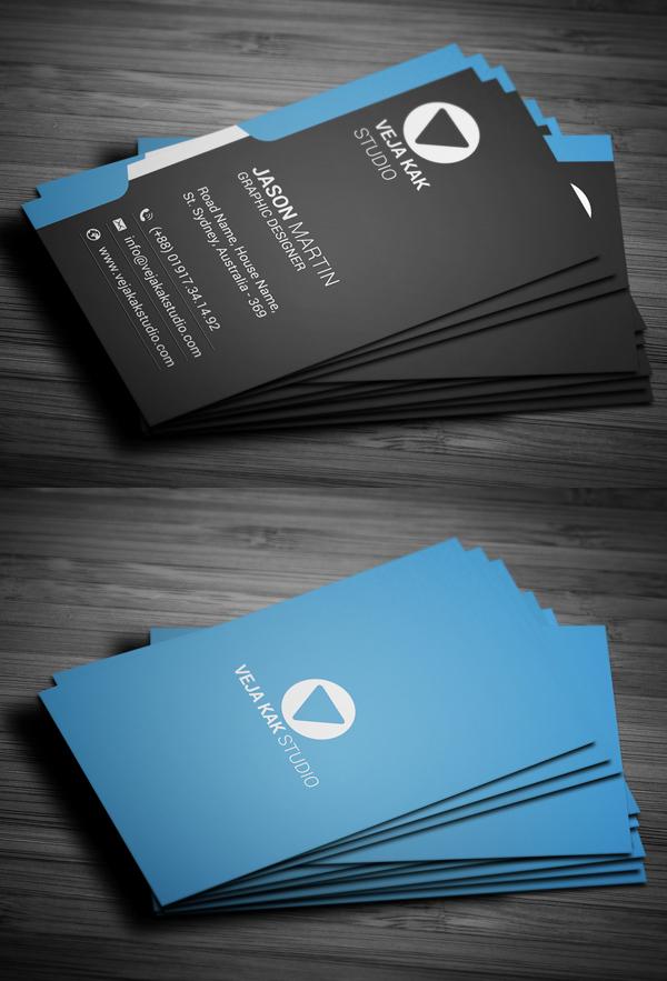 Modern Vertical Business Card