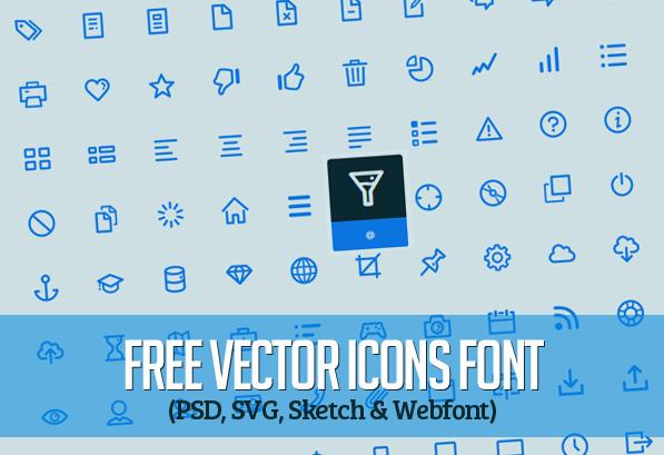200+ Free Vector Line Icons Font (PSD, SVG, Sketch & Webfont)