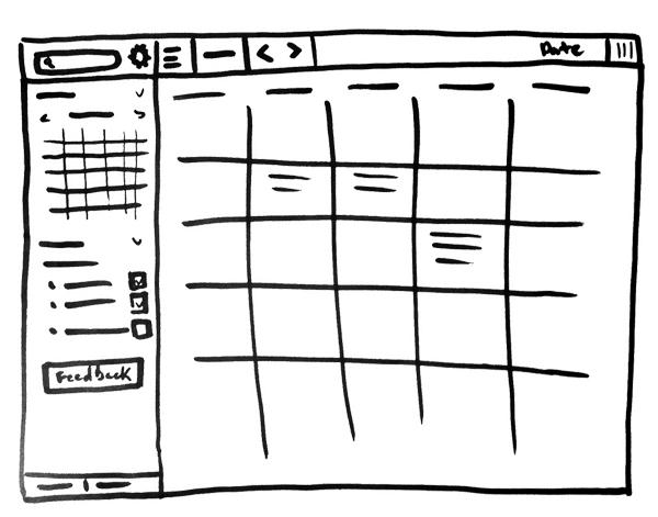 Wireframes - visual representation of website